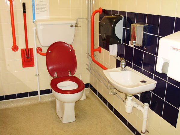 Striking colours make a real difference for Visually Impaired users of Accessible Toilets