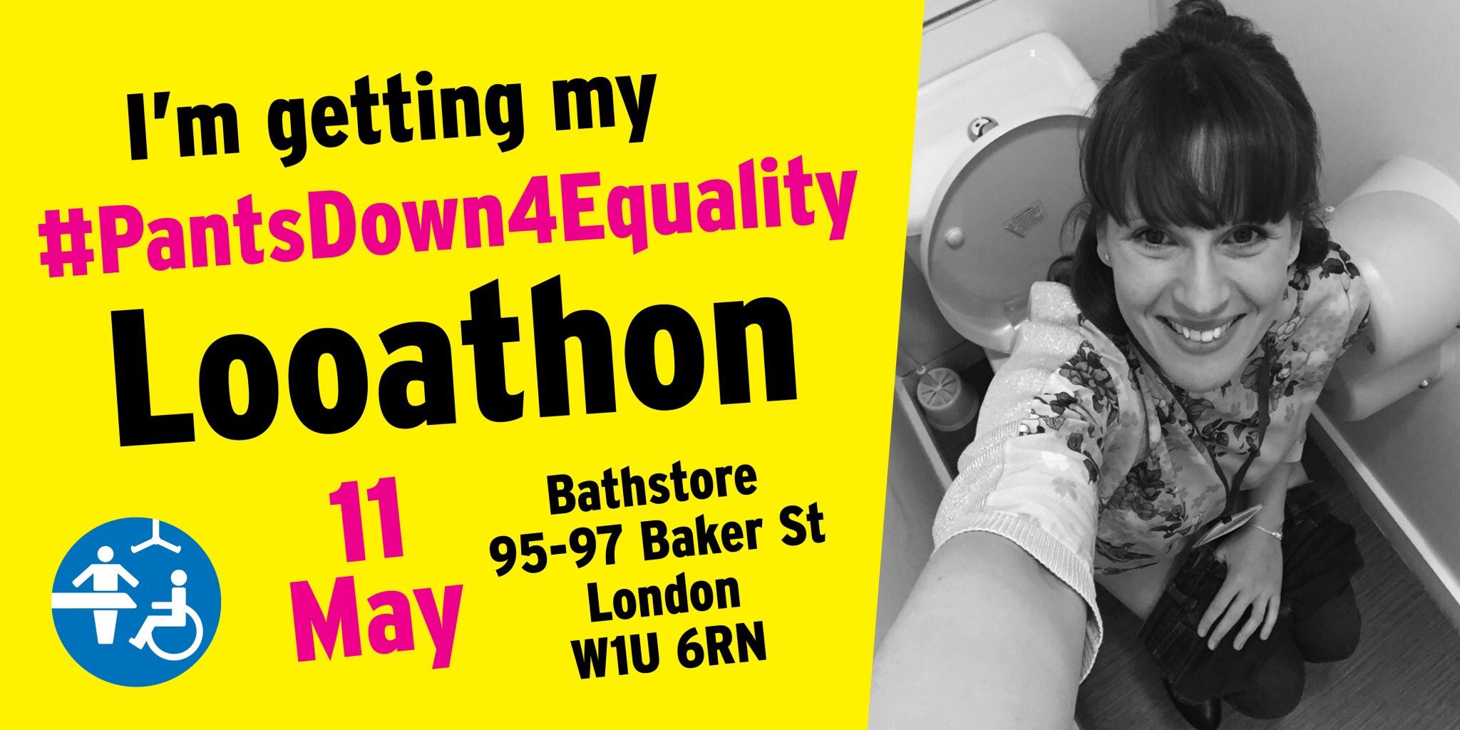 Advert for pants down for equality Looathon on 11th of May